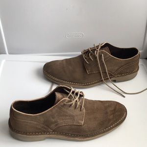 John Varvatos suede leather loafers